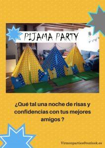 Pijama Party - Virmon Parties  Fiestas temáticas infantiles